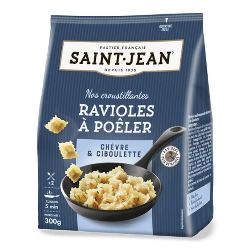 Ravioles à poêler chèvre & ciboulette, Saint Jean (300 g)