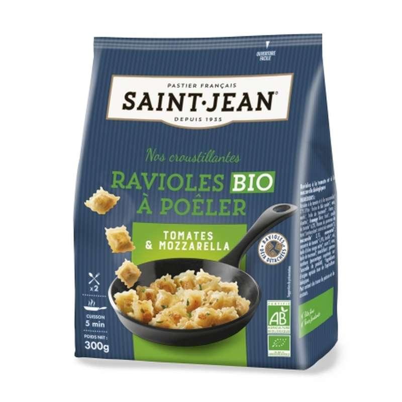 Ravioles à poêler tomates & mozzarella BIO, Saint Jean (300 g)
