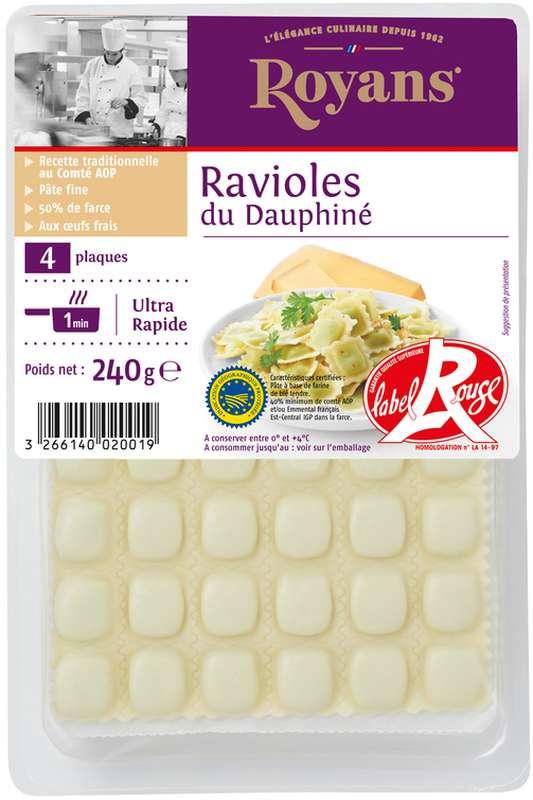 Ravioles du Dauphiné Label Rouge au comté AOP et persil de la Drôme, Royans (240 g)