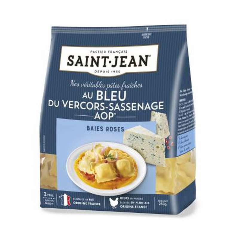 Ravioli au Bleu du Vercors et aux baies roses, Saint Jean (250 g)