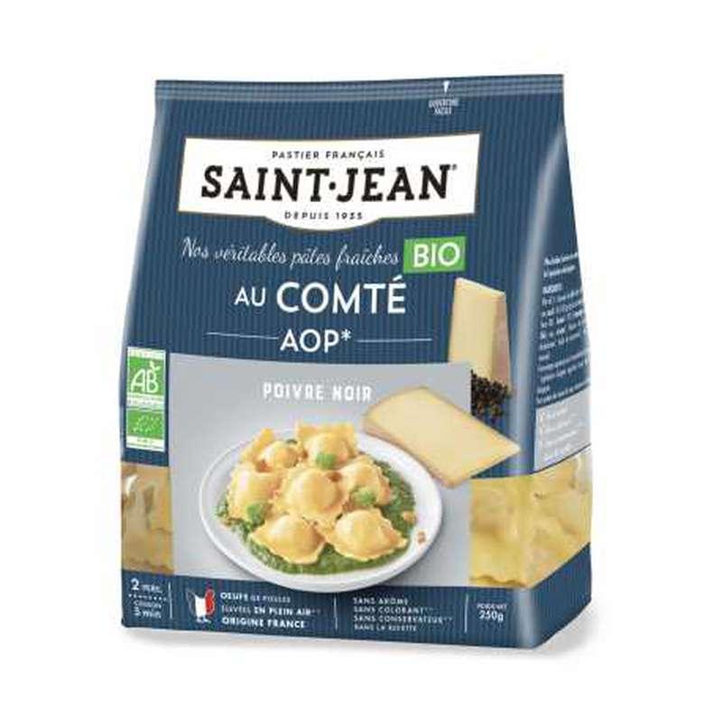Ravioli au comté AOP et au poivre noir BIO, Saint Jean (250 g)