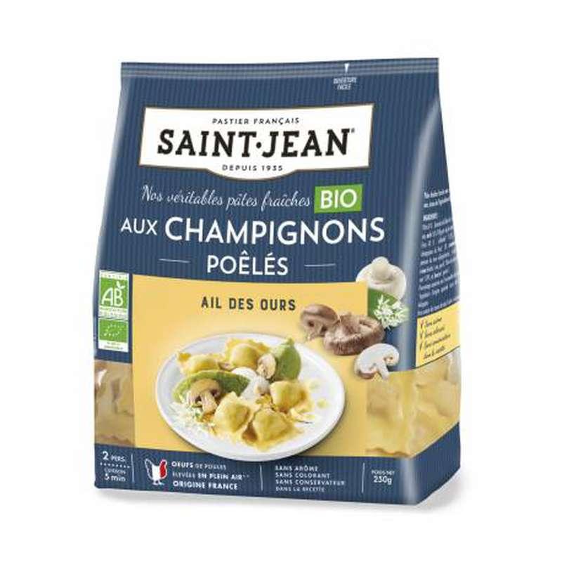 Ravioli aux champignons et à l'ail des ours BIO, Saint Jean (250 g)