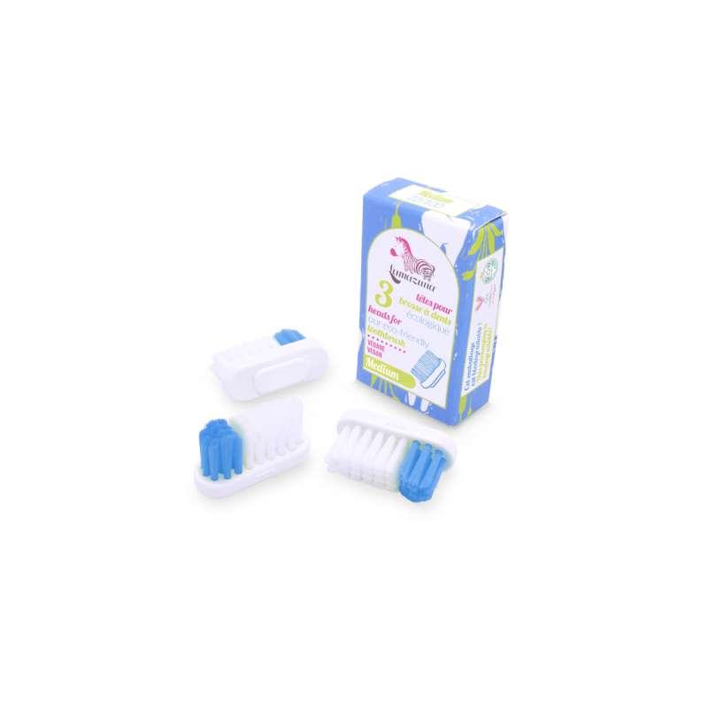 Recharge 3 têtes de brosse à dents Medium, Lamazuna (x 3)