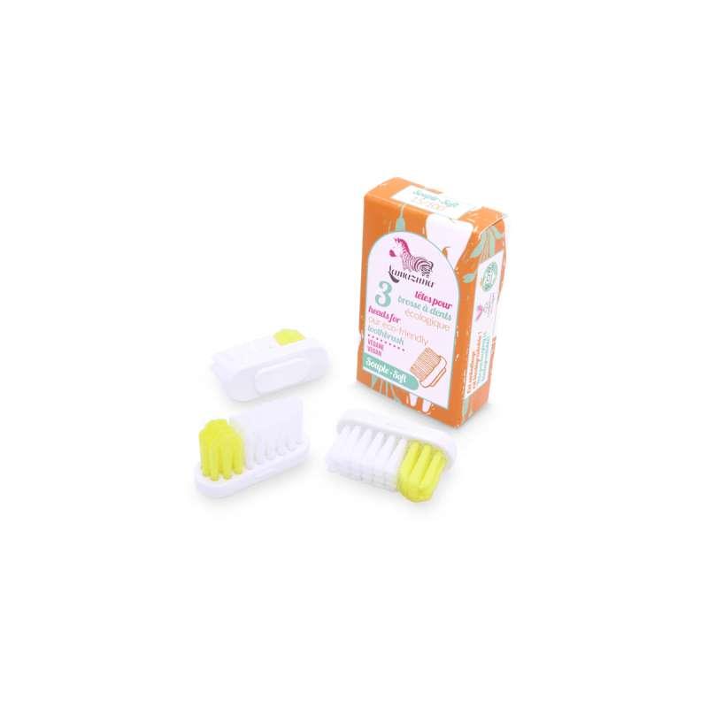 Recharge 3 têtes de brosse à dents souple, Lamazuna (x 3)