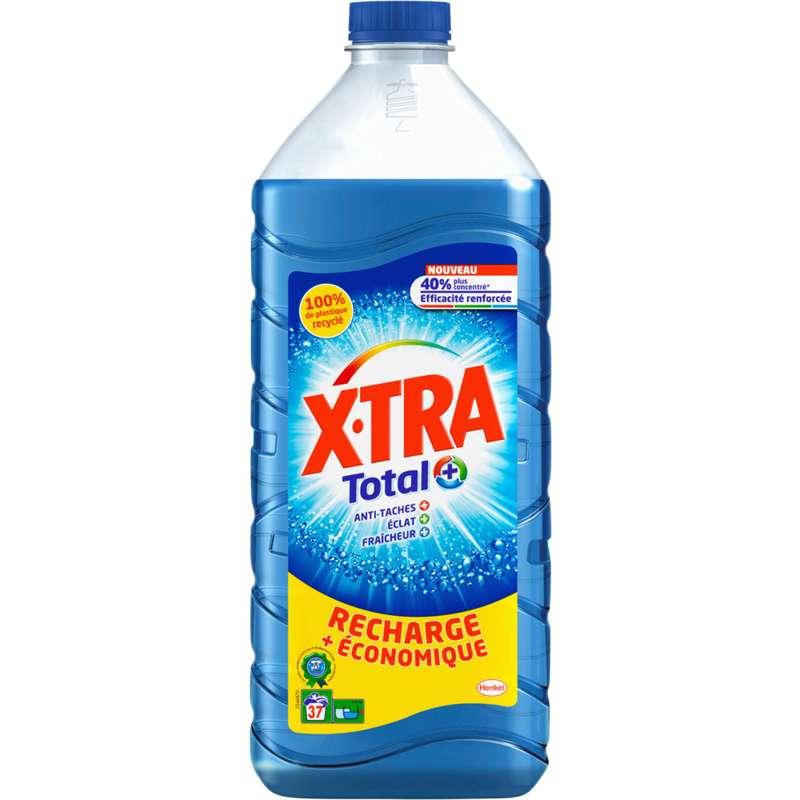 Lessive liquide recharge économique total+, X'tra (1,85 L = 37 lavages)