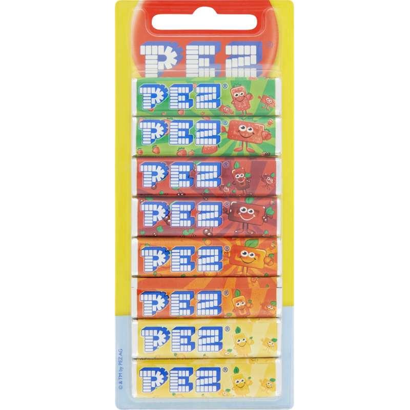 Recharges bonbons aux fruits pour distributeur, Pez (8 paquets, 68 g)