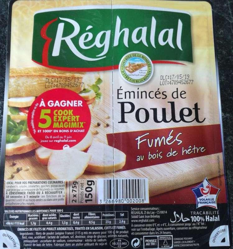 Emincés de poulet fumé, Reghalal (2 x 75 g)