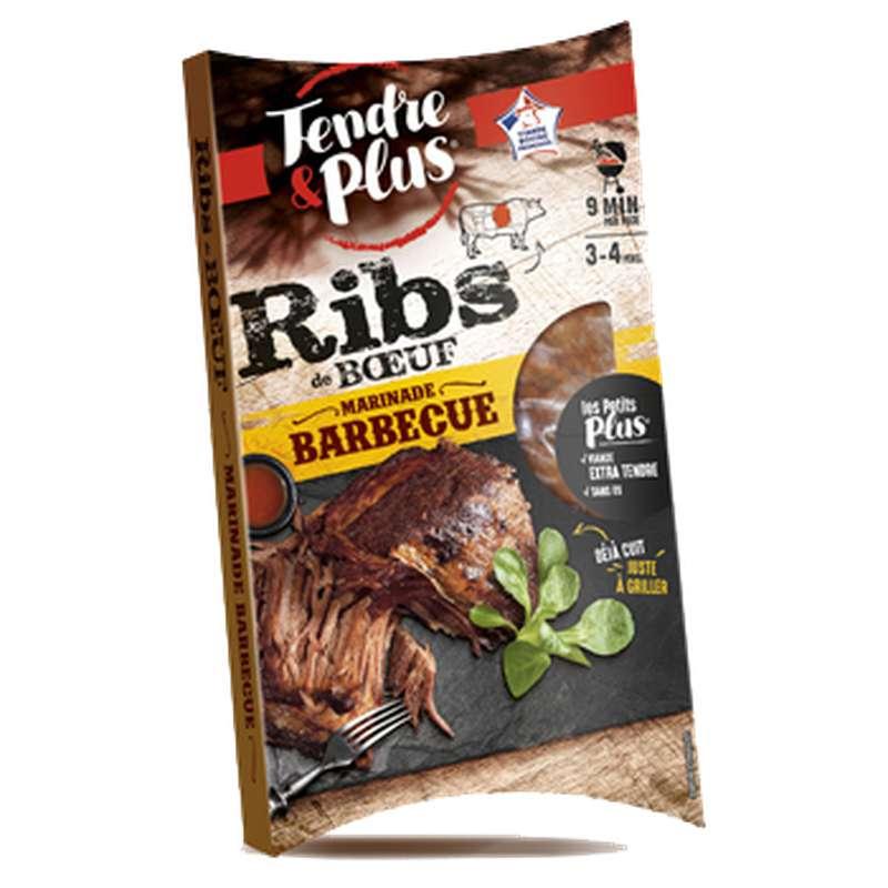 Ribs de bœuf cuit mariné sauce barbecue, Tendre & Plus (700 g)