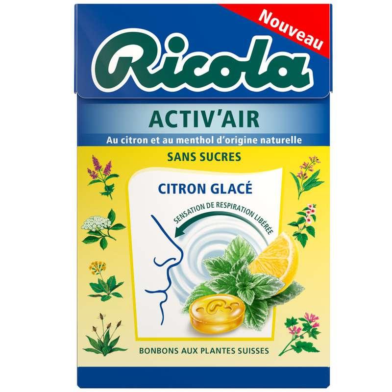 Bonbons citron glacé sans sucre, Ricola (50 g)