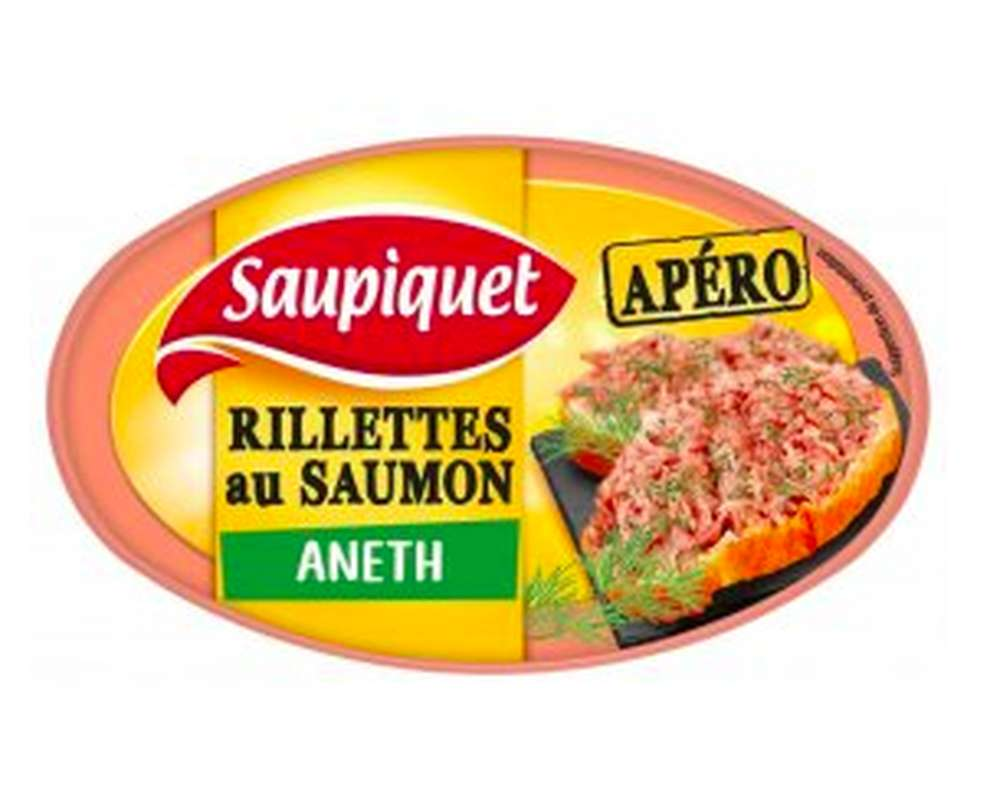 Rillettes de saumon apéro à l'aneth, Saupiquet (115 g)