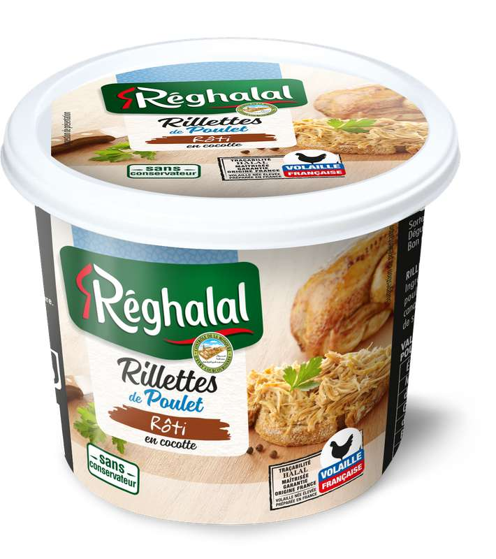 Rillettes de poulet rôti, Reghalal (220 g)