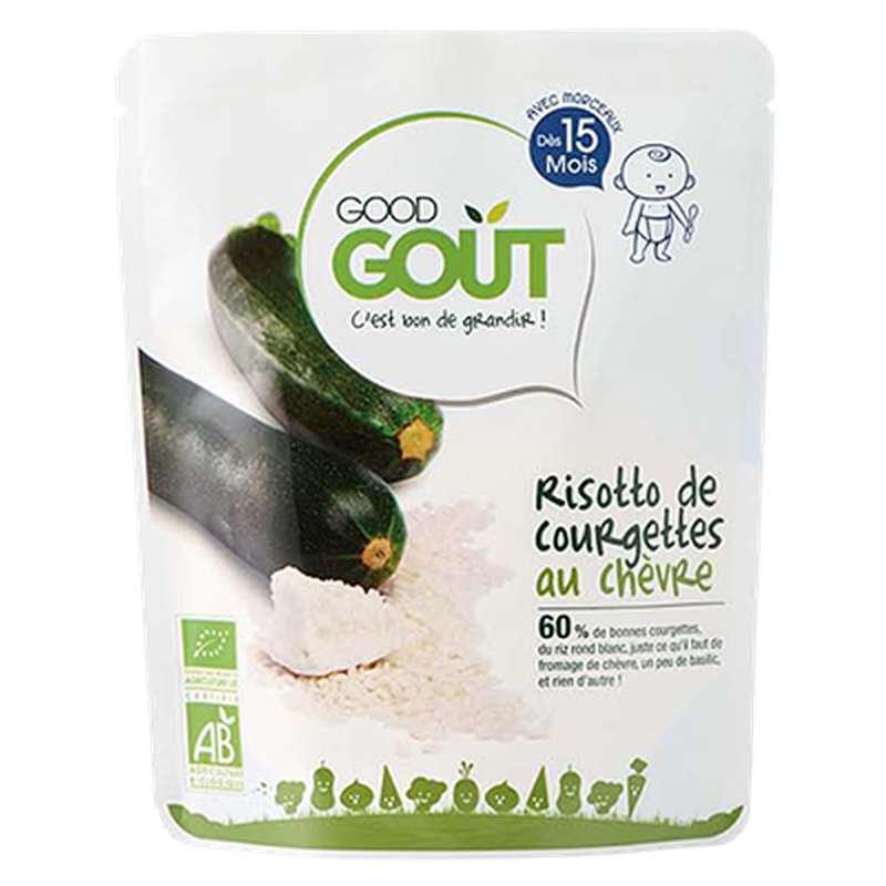 Risotto de courgettes au chèvre BIO - dès 15 mois, Good Goût (220 g)