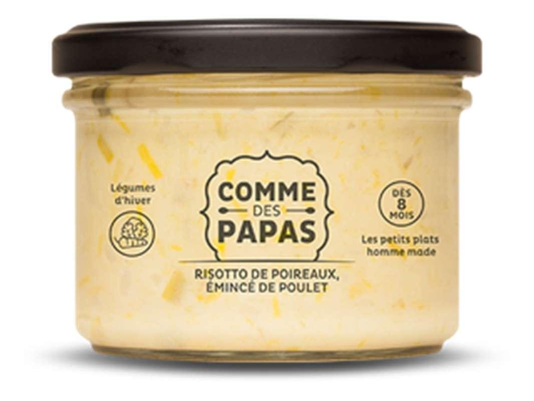 Risotto de poireaux et émincé de poulet BIO - 8 mois, Comme des papas (180 g)