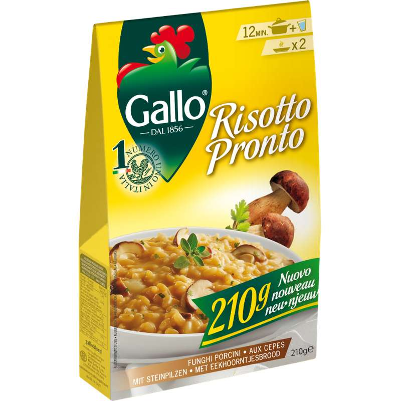 Risotto pronto aux cèpes, Riso Gallo (210 g)