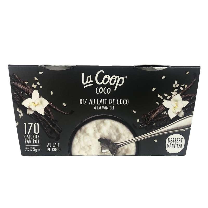 Riz au lait Vanille 100% végétal , La Coop Coco (x2, 250 g)