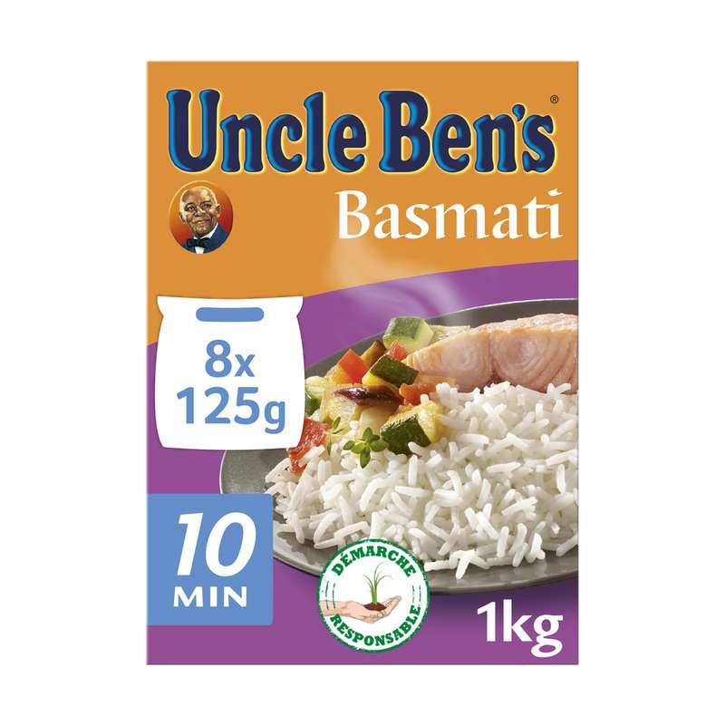 Riz basmati cuisson 10 min, Uncle Ben's (8 x 125 g)