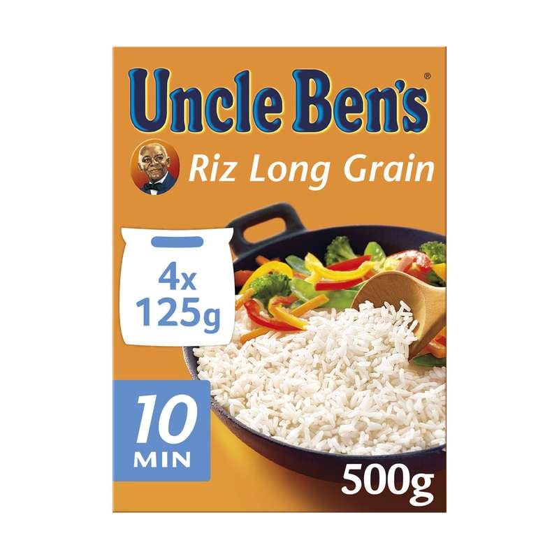 Riz long grain cuisson 10 min, Uncle Ben's (4 x 125 g)