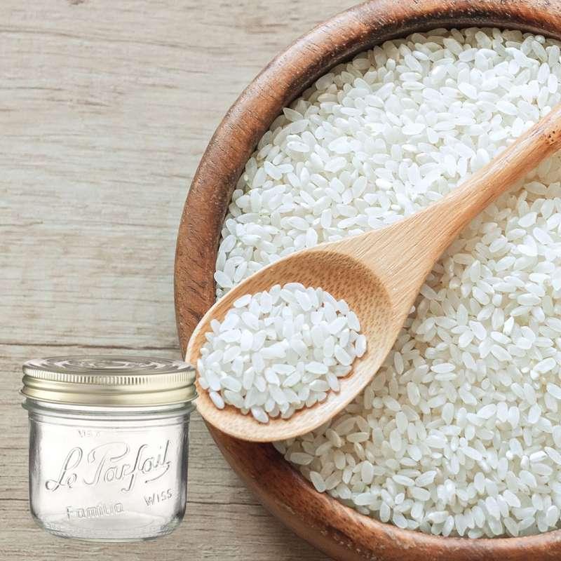 Riz rond blanc BIO bocal consigné / 2,5€ récupérable (1 kg)