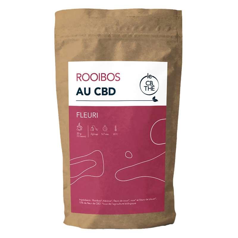 Rooibos fleuri 10% d'extrait de fleur de CBD BIO, Le CB Thé (20 g)