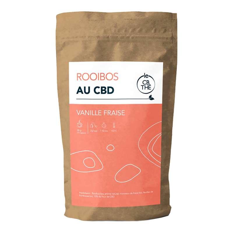 Rooibos Vanille Fraise BIO, Le CB Thé (20 g)
