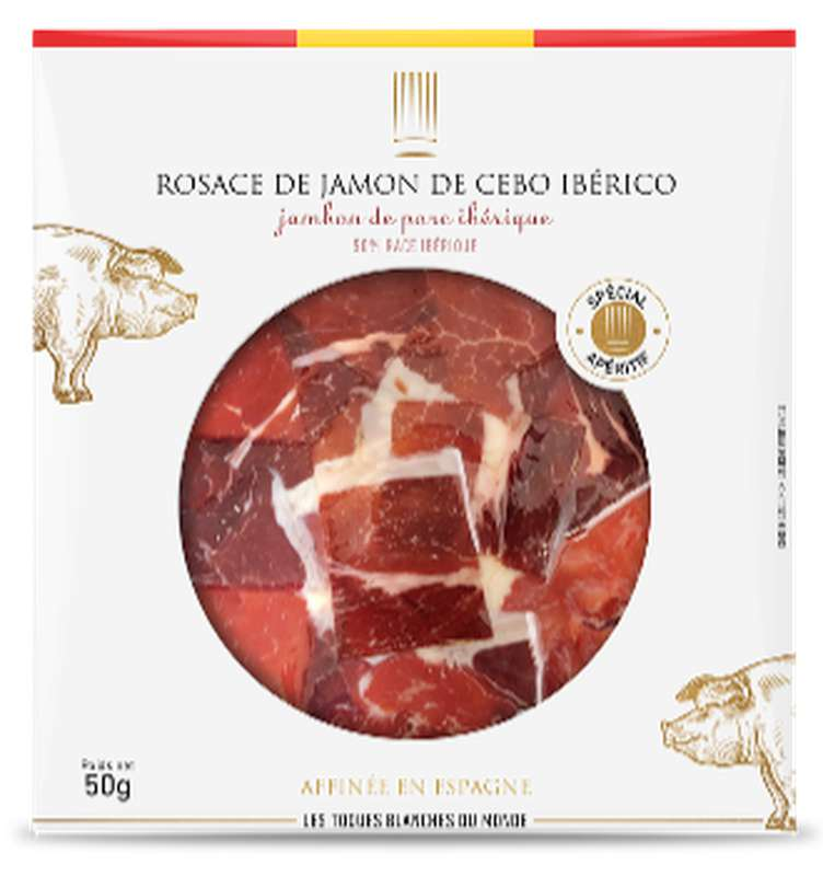 Rosace de Jambon de Cebo Iberico, Les Toques Blanches du Monde (50 g)