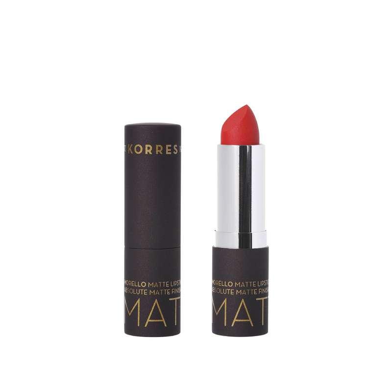Rouge à lèvres couleur intense Classic Red, Korres (3,5 ml)