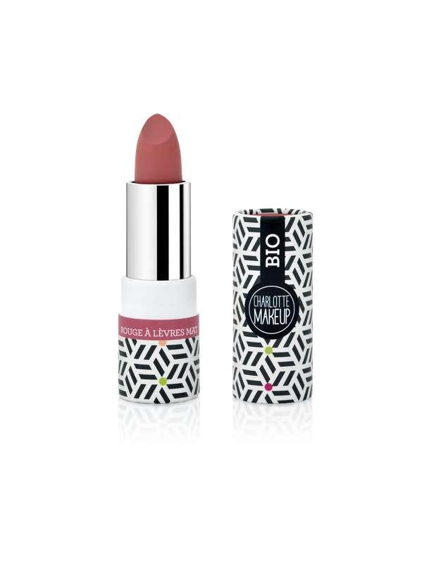 Rouge à lèvres Groseille Mat BIO, Charlotte Bio (3,5 gr)