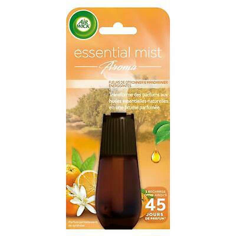 Recharge diffuseur Essential Mist Aroma fleur de citronnier et mandarinier, Air Wick (20 ml)