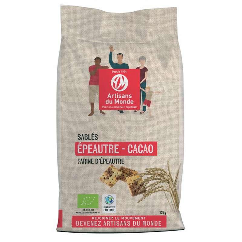 Sablés épeautre et cacao BIO, Artisans du monde (125 g)