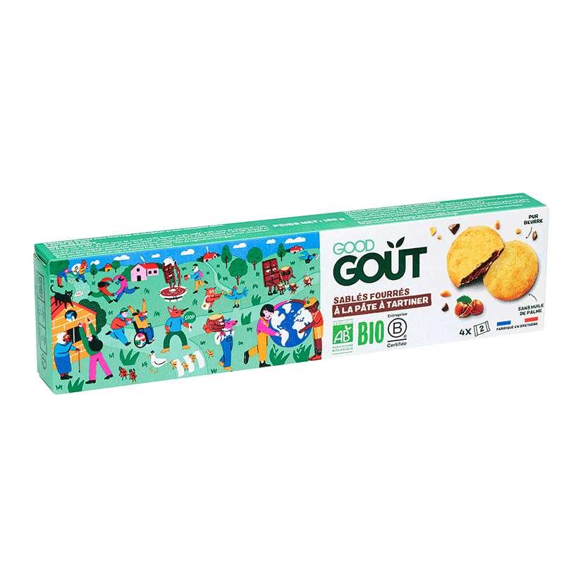 Sablés fourrés à la pâte à tartiner BIO - dès 3 ans, Good Goût Kid'z (100 g)