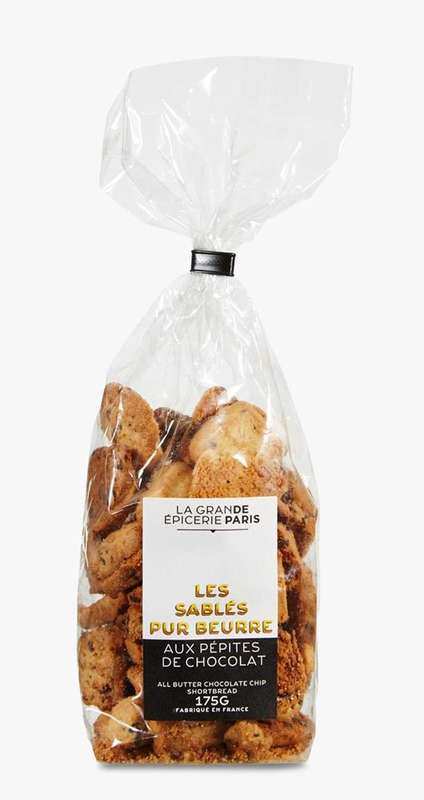 Sablés pur beurre aux pépites de chocolat, La Grande Epicerie de Paris (175 g)
