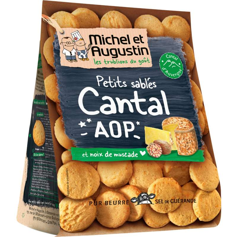 Sablés Cantal AOP et noix de muscade, Michel et Augustin (100 g)