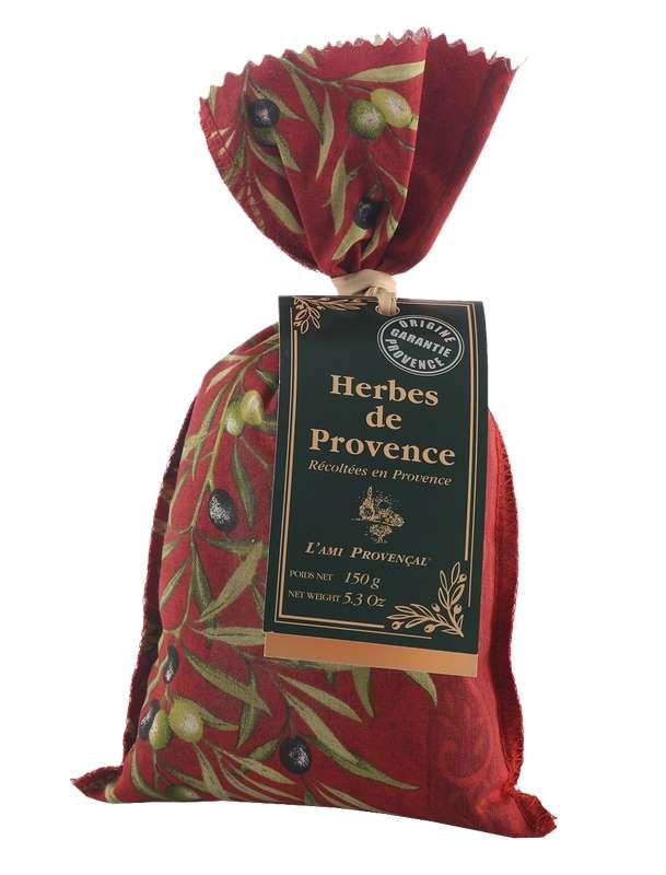 Sac d'Herbes de Provence - motif provençal, Le Vieux Bistrot (150 g)