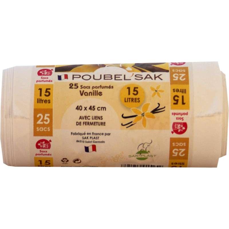 Sacs poubelle parfumé à la vanille, Poubel'sak (25 x 15 L)