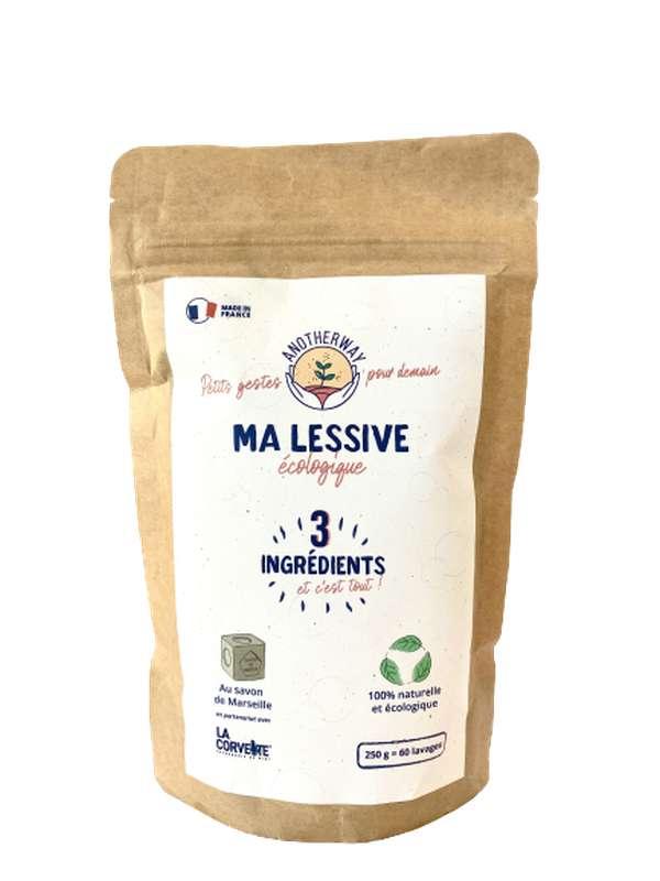 Sachet de lessive écologique en poudre, Anotherway (250 g)