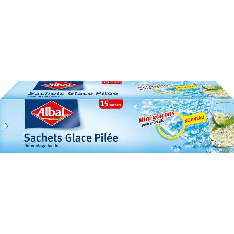 Sachets congélation glace pilée démoulage facile, Albal (x 15)