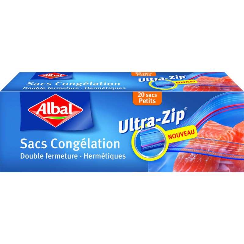 Sacs de congélation zip aux fonds plats petits modèles, Albal (20 x 1 L)