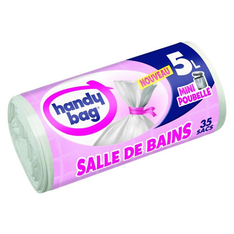 Sacs poubelle à liens salle de bains, Handy Bag (35 x 5 L)