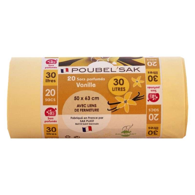 Sacs poubelle parfumés à la vanille, Poubel'sak (20 x 30 L)
