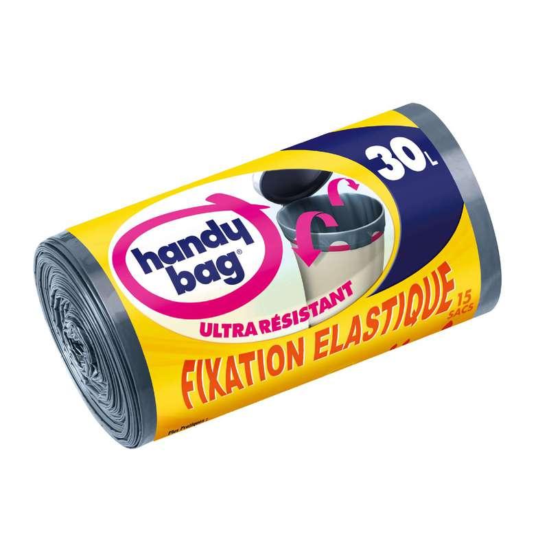 Sacs poubelle ultra résistants fixation élastique, Handy Bag (15 x 30 L)