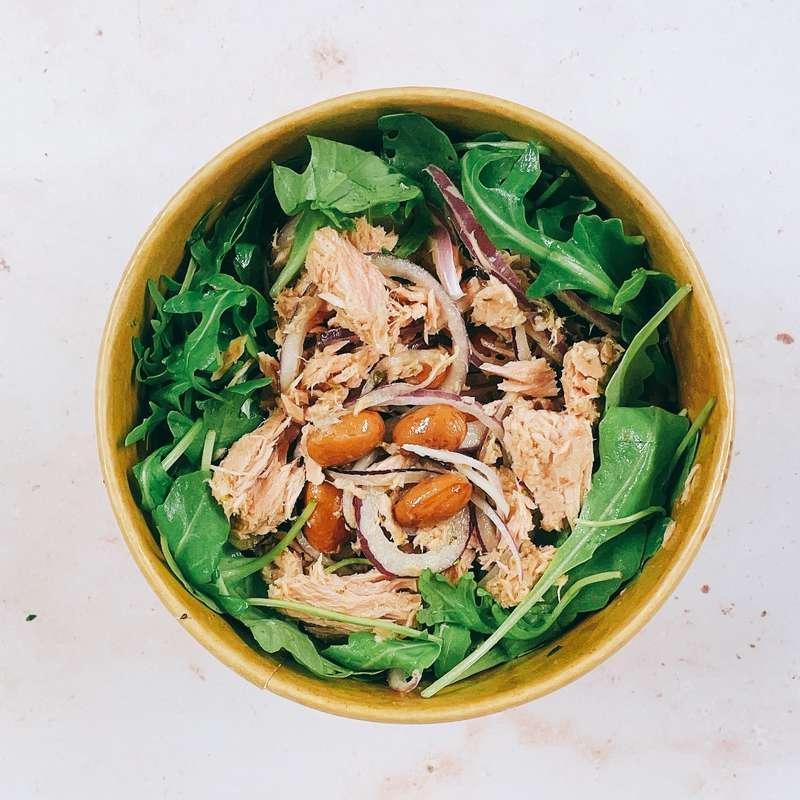Salade de thon, roquette, haricots et oignons rouges (290 g)