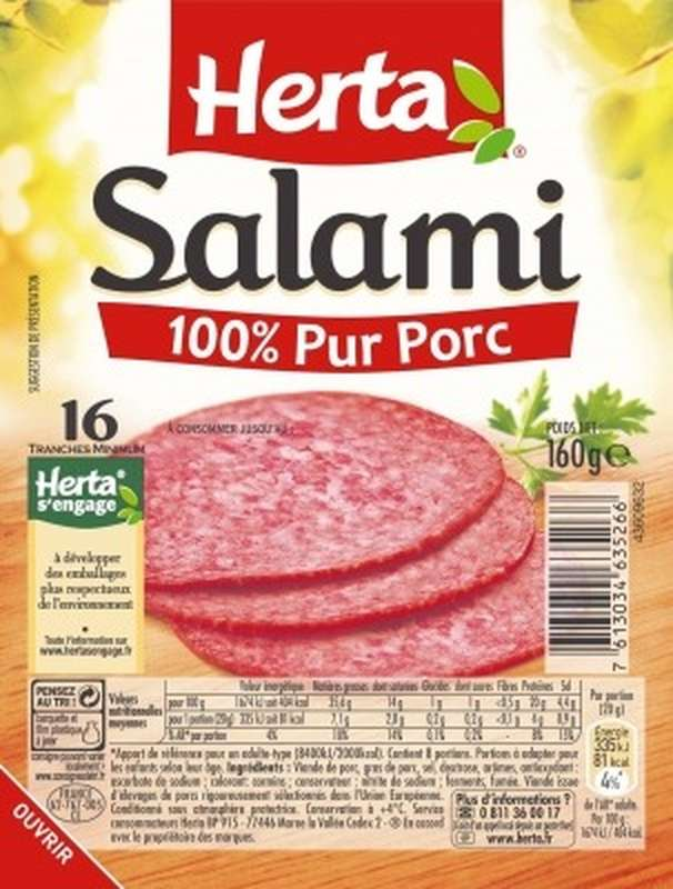 Salami, Herta (x16, 160 g)