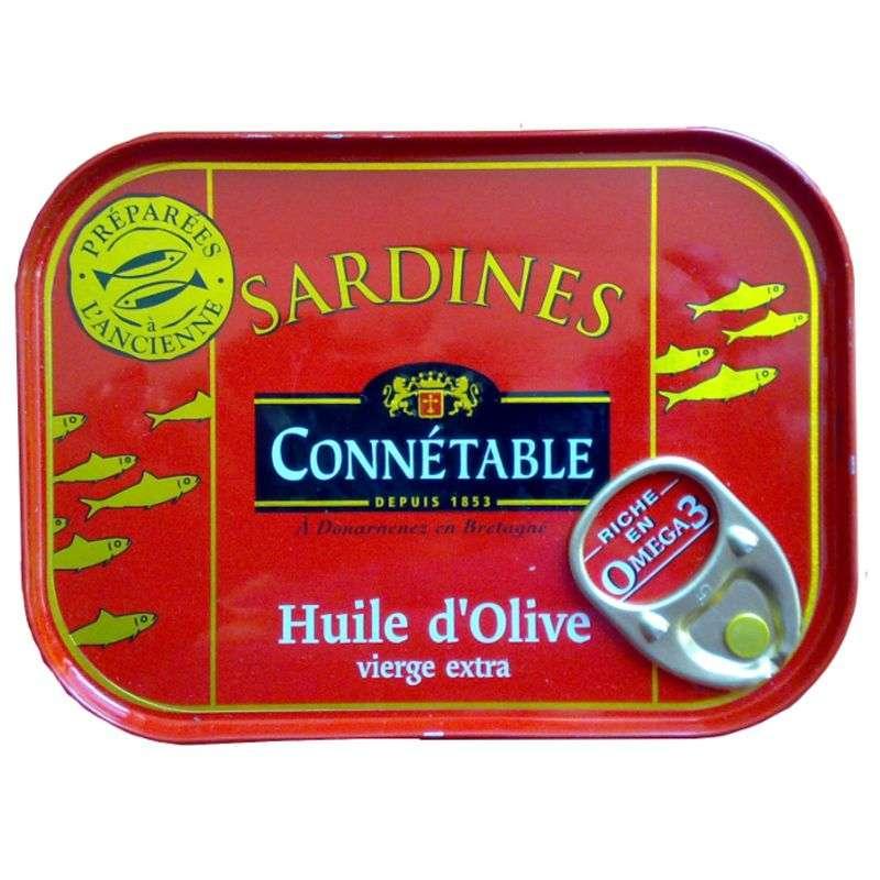 Sardine à l'ancienne à l'huile d'olive, Connetable (115 g)