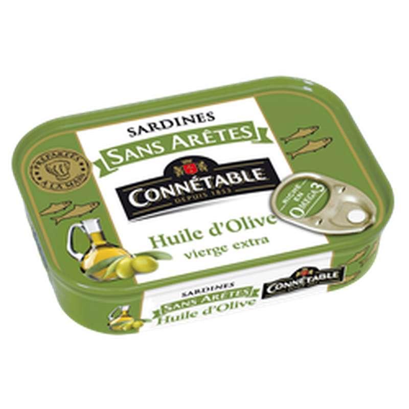 Sardines sans arêtes à l'huile d'olive, Connetable (140 g)