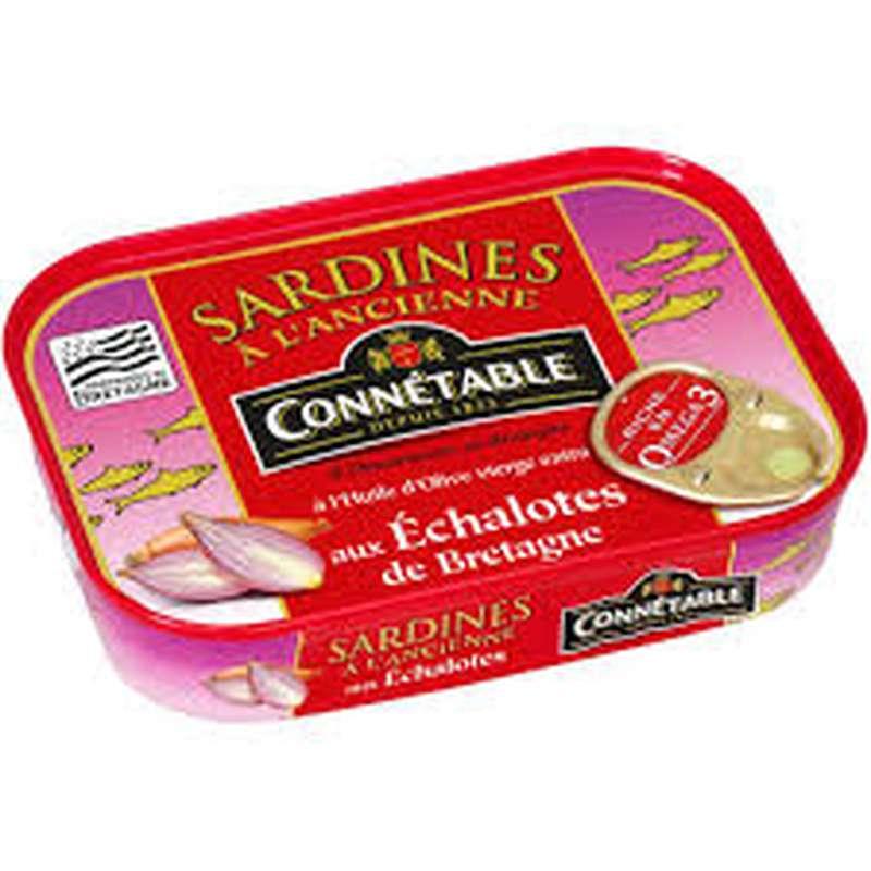 Sardines à l'ancienne à l'huile d'olive vierge extra, Connétable (115 g)