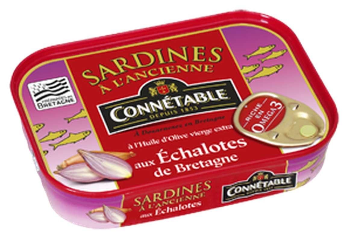 Sardines à l'huile d'olive et échalotes de Bretagne, Connétable (115 g)