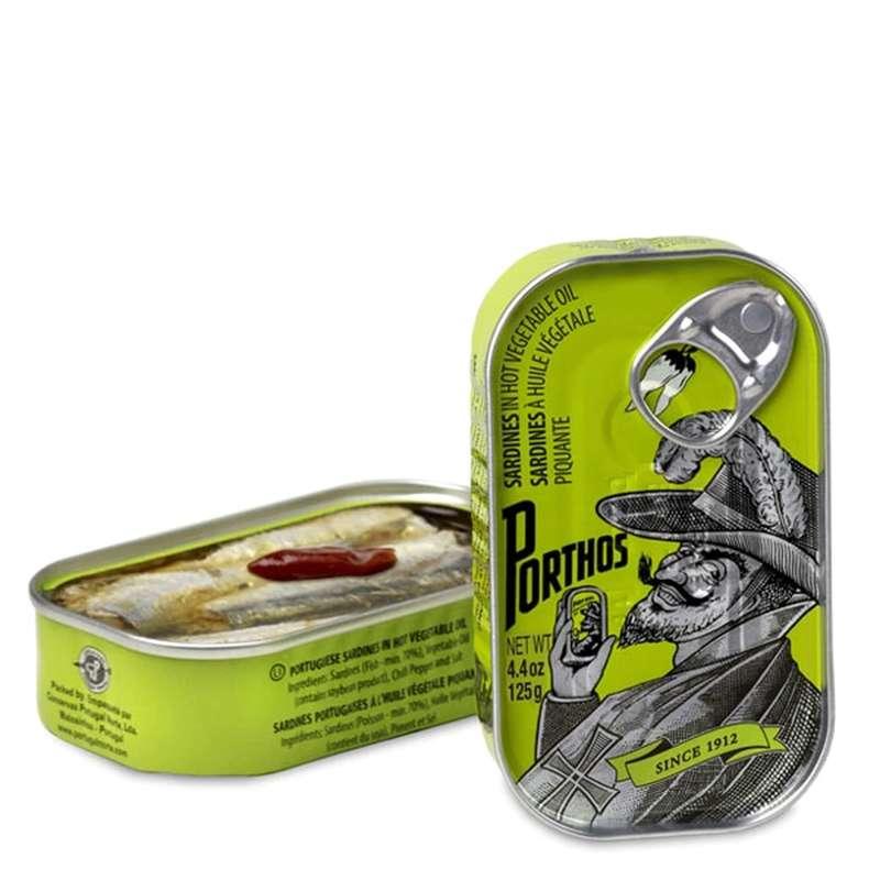 Sardines à l'huile d'olive picante, Porthos (81 g)