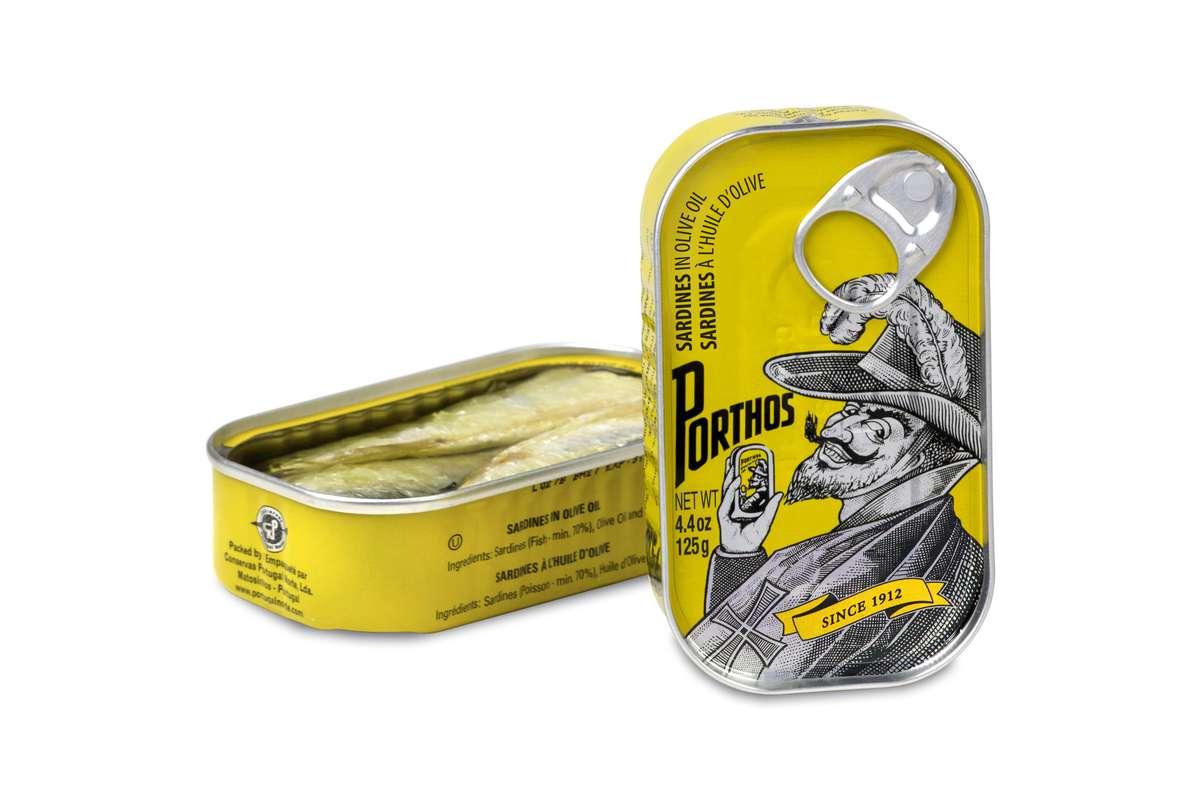 Sardines à l'huile d'olive, Porthos (81 g)