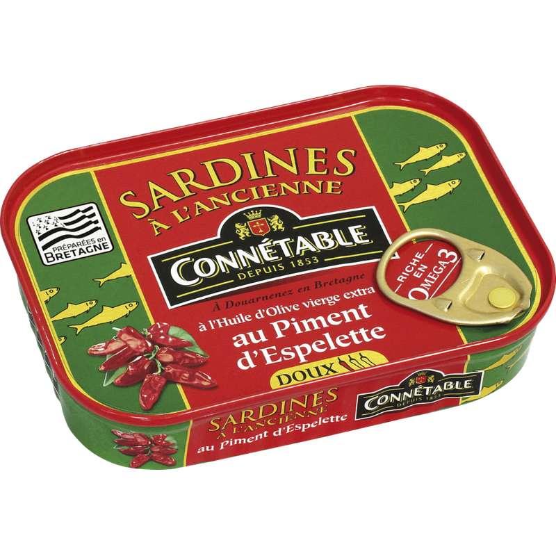 Sardines à l'huile d'olive et au piment d'Espelette Connétable (115 g)