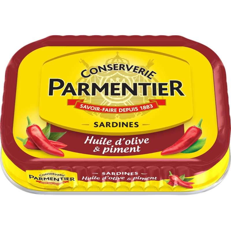 Sardines à l'huile d'olive et piment, Parmentier (135 g)